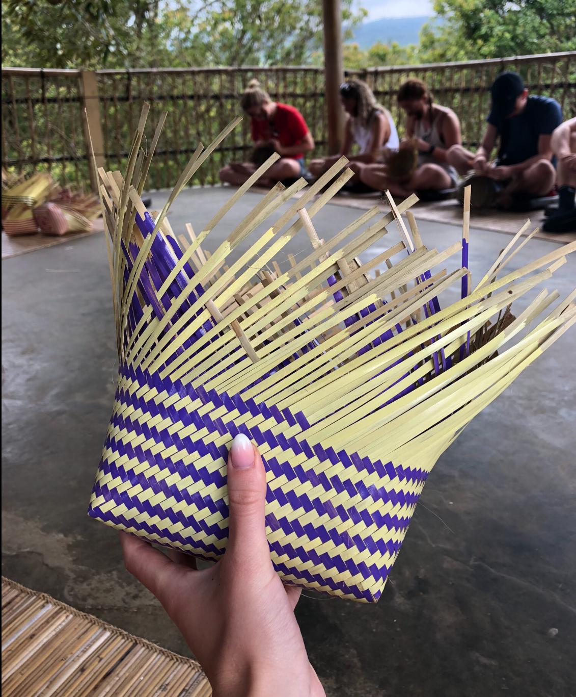 Flechten auf Bali