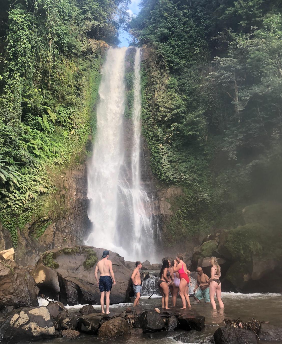 Abkühlung auf Bali
